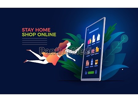 online shopping concept vector illustration