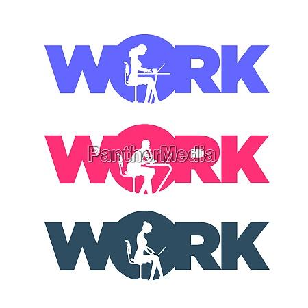 working people concept typographic design