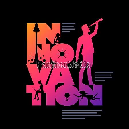 innovation concept typographic design