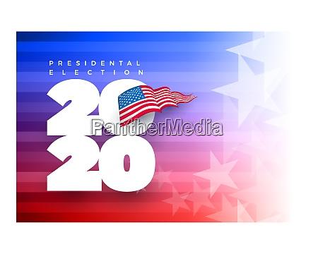 presidental election concept design template
