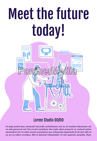 meet future today poster flat silhouette