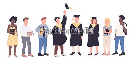 college graduates and freshman students flat