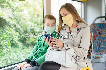 woman with her son in the