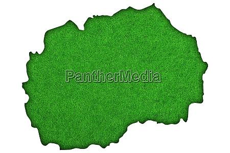 map of north macedonia on green
