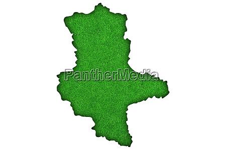 map of saxony anhalt on green