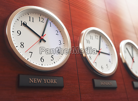 time zone business world clock