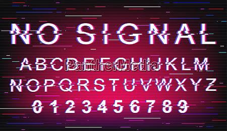 no signal glitch font template