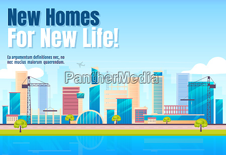 new homes for new life banner