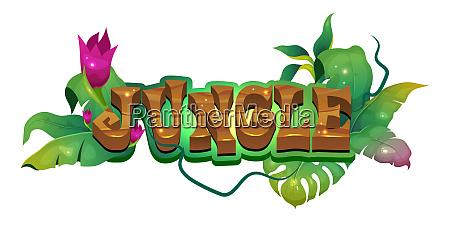 jungle flat banner vector template