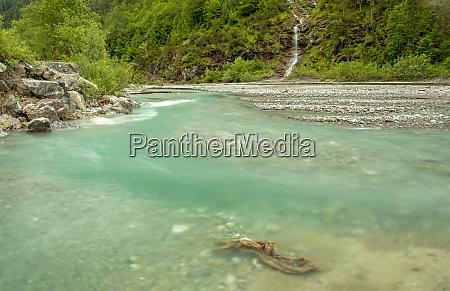 at hornbach creek in tyrol austria