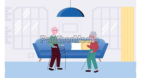 old couple loving each other at