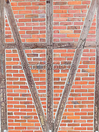 the half timbered wall from the