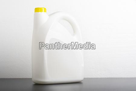 kitchen detergent bottle in front of
