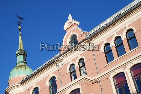 historic facade in the norwegian city