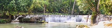 panorama waterfall on the mountain in
