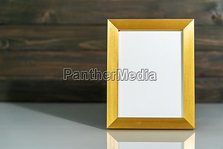 picture golden frame mock up on