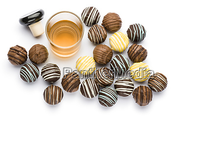 chocolates filled with liquor
