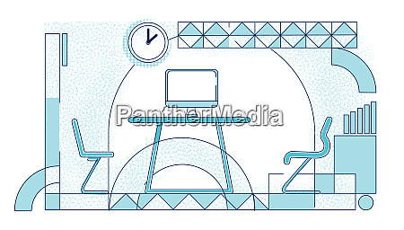 modern office coworking place outline vector