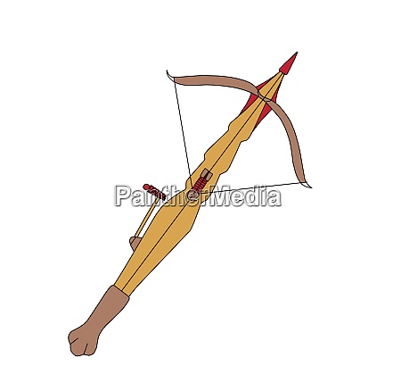 crossbow on a white background weapon