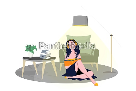 quarantine flat young friend woman with