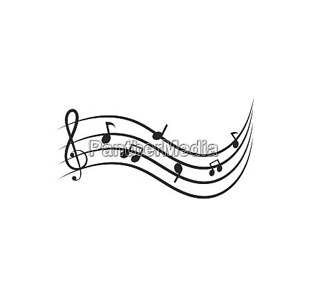music note illustration vector design