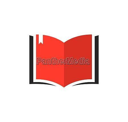 book logo template vector illustration
