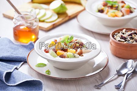 greek yogurt with fresh fruits and