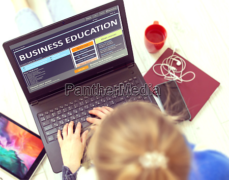 further education concept business education on