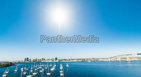 boats in coronado seafront