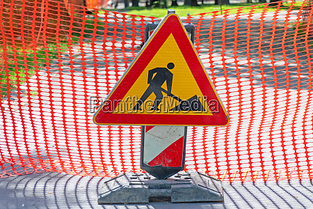 construction works sign
