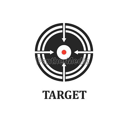 target logo icon vector template