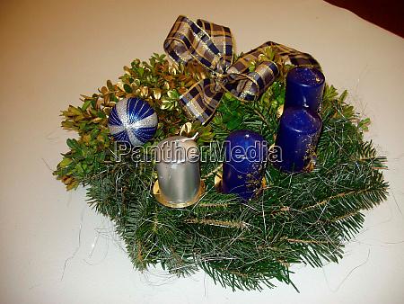 advent wreath in christmas season