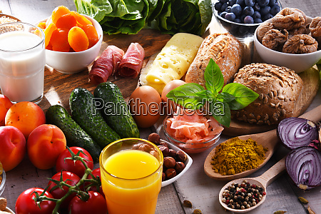assorted organic food products on the