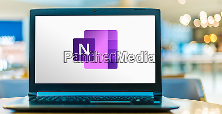 laptop computer displaying logo of microsoft