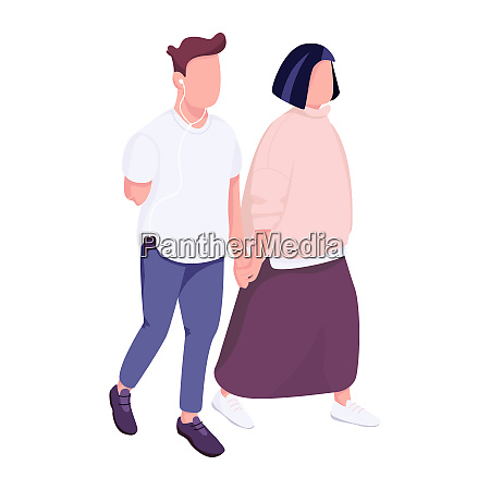 man with disability and woman walking