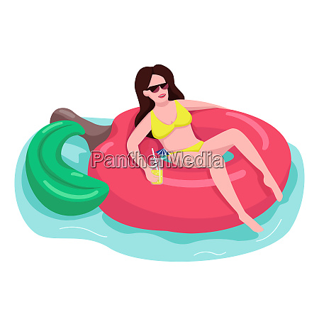 fit woman in sunglasses flat color