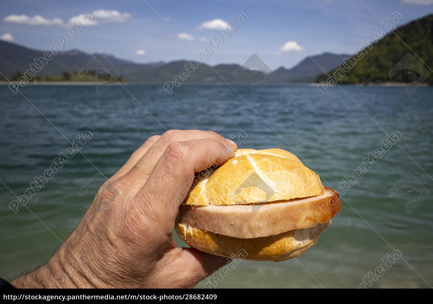 meat, loaf, bun, at, walchensee - 28682409