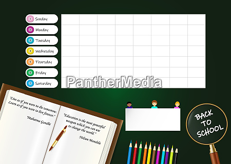 weekly planner for schools with famous