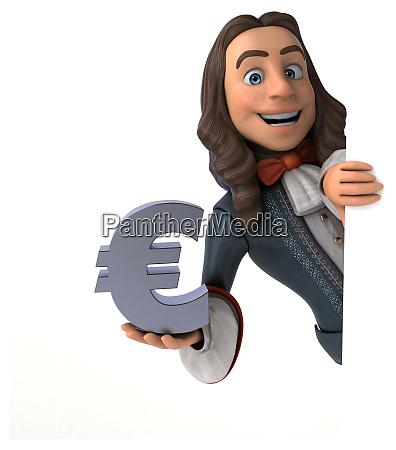3d illustration of a cartoon man