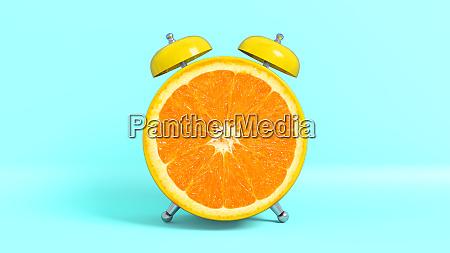 wake up vintage morning shaped orange