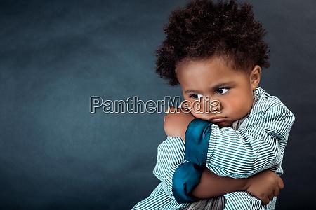 upset african american kid