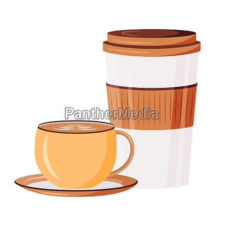 caffeine drinks cartoon vector illustration