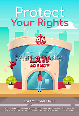 protect your rights poster flat vector
