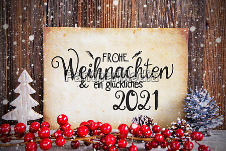 christmas decoration paper with text glueckliches