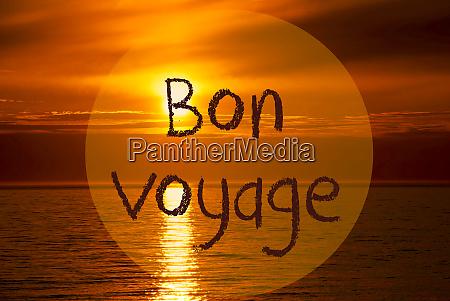 romantic ocean sunset sunrise bon voyage