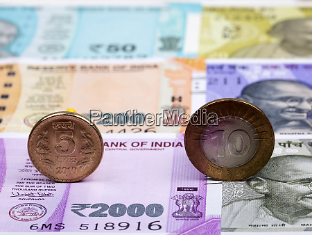 indian coins on the background