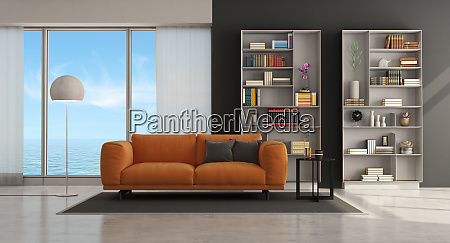 moder living room with sofa and
