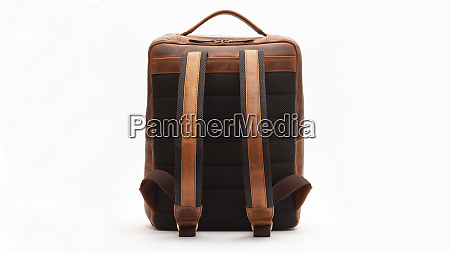 backpack leather bag brown baggage modern