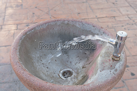 water fountain with water jet on