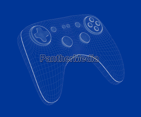 3d model of game controller